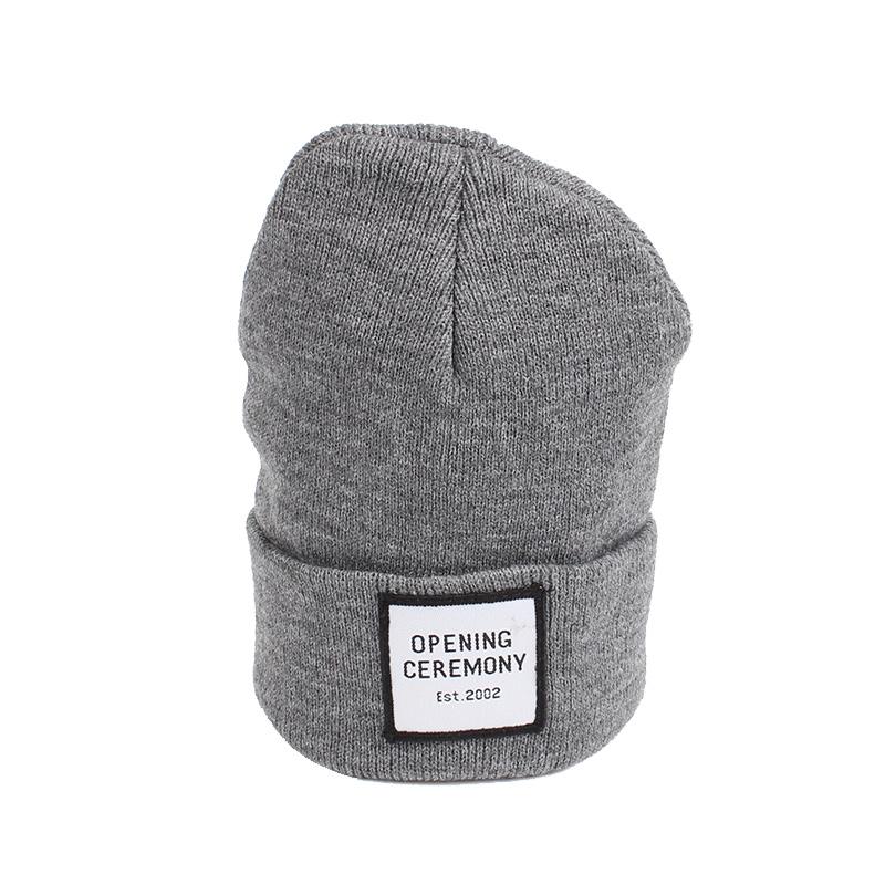 Knitted Cotton Women Beanie Hats Fashion OPENING CEREMONY Women Hats Autumn Winter Warm Female Hat Letter Hip Hop Women Skullies (9)