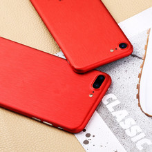 Wire drawing Red color Skins Protective Film Wrap Skin Cellphone back paste Protective Film Sticker For iphone 6 6splus 7 7Plus(China)