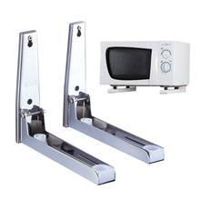 304 Stainless Steel Microwave Oven Shelf rack Can adjust the size and wall-mounted Kitchen Storage Tools(China)