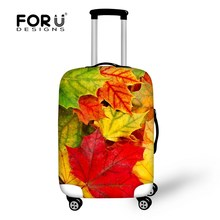 Thick Maple Leaf Luggage Protective Cover To 18 20 22 24 26 28 30 Inch Trolley Suitcase Waterproof Elastic Travel Suitcase Cover(China)
