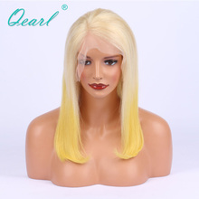 Virgin Burmese 150% Density Human Hair Lace Front Wigs Ombre Blonde Two Tone For Black Women(China)
