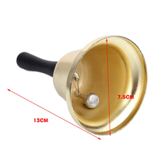 1pc Gold plated Hand held Call Bells tea jingle Bells Build Ringtones Christmas toy