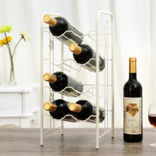 Metal Iron Wine Rack Wine Holder Creative Dining Room Wall Lattice Wine Shelf(China)