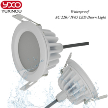 High quality SMD 5730 waterproof dimmable led downlight ip65 round 5W 7W 9W 10w 12W 13w 15W 18w 20w 25w 30w led light(China)