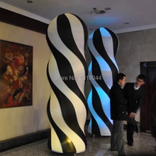 Top selling outdoor led pillar light inflatable, inflatable led lighting column with stripes