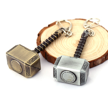 J Store Thor Hammer Keychain Movie Jewelry Mjolnir Model Zinc Alloy Keyring Key Chain Ring For Fans chaveiro