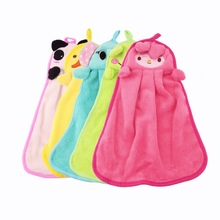 OUTAD New Cute Nursery Hand Towel quite Soft Plush Fabric Cartoon Animal Hanging Wipe Bathing Towel Worldwide Sale