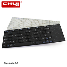 CHYI Bluetooth3.0 Wireless Keyboard Brand Utra-thin Keyboard with Touchpad Portable for Laptop Smartphone Office&Game Keyboard