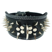 Collars And Leashes For Dog Collar Perro PU Leather Studded Pet Collars Spikes Pit Bull Large Dog Collars Led Pet Accessories(China)