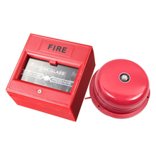 Alarm bell and Plastic Break Glass Emergency Exit Escape Life-saving Switch Button Fire Alarm Home Safely Security