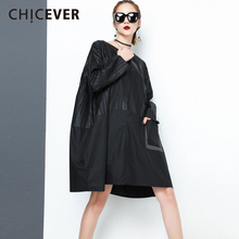 Buy CHICEVER Spring Black Patchwork Women Dress Female long Sleeve Loose O neck Pullovers Women's Dresses Big Size Clothes Fashion for $21.75 in AliExpress store