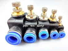 Free shipping throttle valve SA 4-12mm Air Flow Speed Control Valve Tube Water Hose Pneumatic Push In Fittings(China)