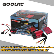 Original GoolRC S3650 4300KV Sensorless Brushless Motor 60A Brushless ESC and Program Card Combo Set for 1/10 RC Car Truck(China)