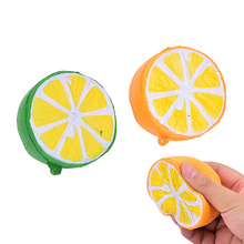 lemon Jumbo Squishy Kawaii Squishy Cute fruit Slow Rising Decoration Phone Strap Pendant Squishes Gift toy Message Tool(China)