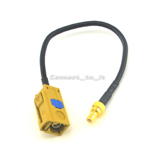 "Fakra ""K"" Jack Female to SMB Plug Male Pin Connector RF Coaxial Adapter Extension Cable GPS Antenna Pigtail Cord 15cm"