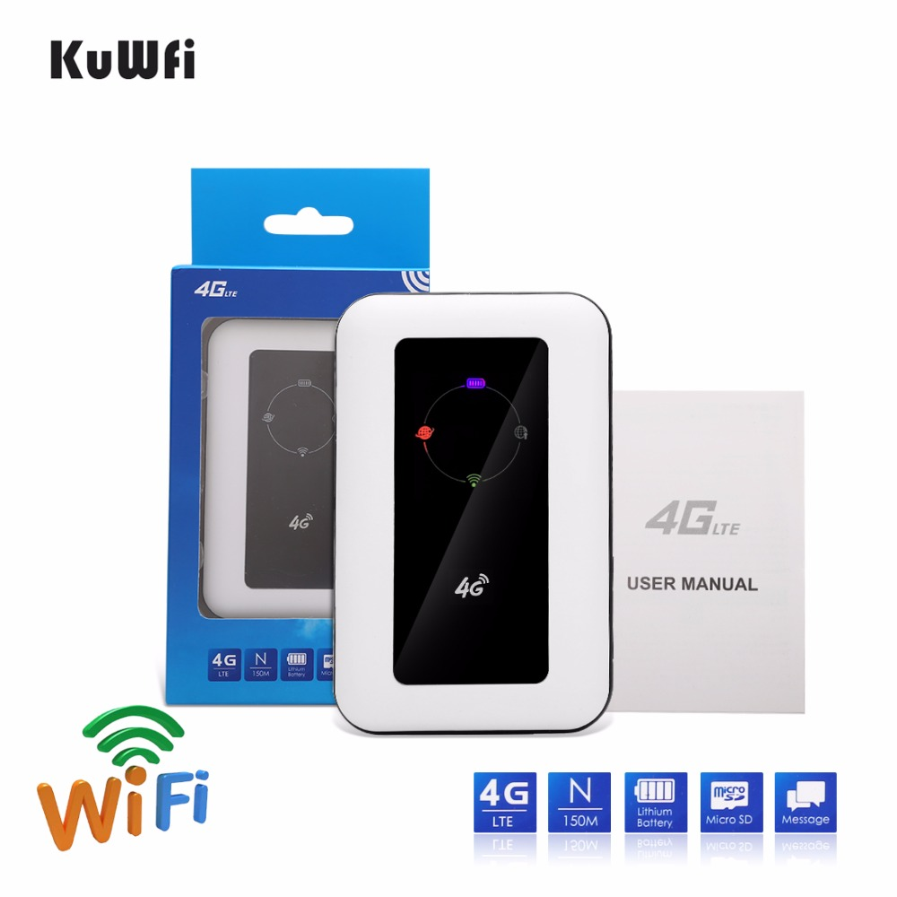 UNLOCKED 4G LTE Mobile Broadband WI-Fi Router MI-Fi 150Mbps w// 2100 mAh Battery