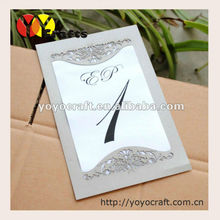 New simple wedding favor printable cheap invitation card wedding decoration laser cutting invitation card greeting card