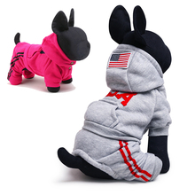 Autumn Winter Dog Jumpsuit USA Brand Small Dog Sport Clothes Hoodies Puppy Chihuahua Yorkshire Terrier Teddy Clothing XXS XS-L(China)