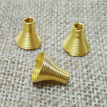 tassel caps crimp end caps beads leather cord jewelry Spring Spiral Metal Wire Spacer Torus Hollow Coil Connector Clasps bijoux(China)