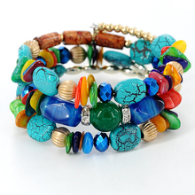 Buy Woman Beach Jewelry 2017 Bohemian Shell stone Bracelet Multilayer Beads Strand bracelets & bangles Pulseras Mujer Z-486 for $2.21 in AliExpress store