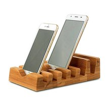 Multi-function Wood Phone Pad E-book Holder Charger Bracket 6 in 1 Bamboo Stand Holder for iPhone ipad mini All Tablet PC Call(China)