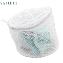 New Lingerie Underwear Bra Sock Laundry Washing Aid Net Mesh Zip Bag Rose