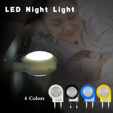 New arrival Mini LED Night Light AC110V / 220V 0.7W Lighting Auto Sensor Smart Baby Bedroom Lamp 4 Color EU Plug Night lamp 1PCS