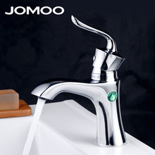 JOMOO Bathroom European Style Wash Basin Faucet Deck Mount brass mixer Tap Single Handle Single Hole Bath Mixer Chrome Finish(China)