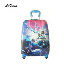 Letrend Cartoon Cute Kids Rolling Luggage Spinner Children Suitcases Wheel Boys Trolley Cabin Travel Bag Student School Trunk(China)