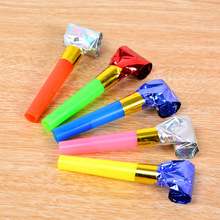 100Pcs/lot Funny Colorful Whistles Kids Childrens Birthday Party Blowing Dragon Blowout Baby Birthday Supplies Toys gifts 6cm