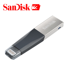 Sandisk USB Flash Drive 32GB 64GB For iPhone 7 7 Plus 6 5 5S Lightning to Metal Pen Drive U Disk for IOS 8.2 memory stick 128GB