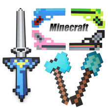 2016 New high quality Minecraft toys figures foam sword diamond pickaxe gun axe shovel gold weapons model kids toys Brinquedos