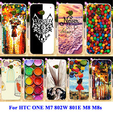 Soft TPU Hard PC Phone Cases For HTC ONE M7 802W 802D Dual Sim 801E 801S Single Sim M8 M8s M8x Shell Covers Street Girl Housing