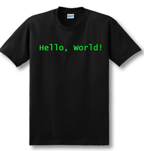 cool design print Programmer computer T-shirt hello world linux geek male short-sleeve men's shirt male basic top tee
