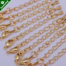 56mm curb link extender chain,Layered Chain,chain extender,lobster clasps on each end,sold 10pcs/lot(China)