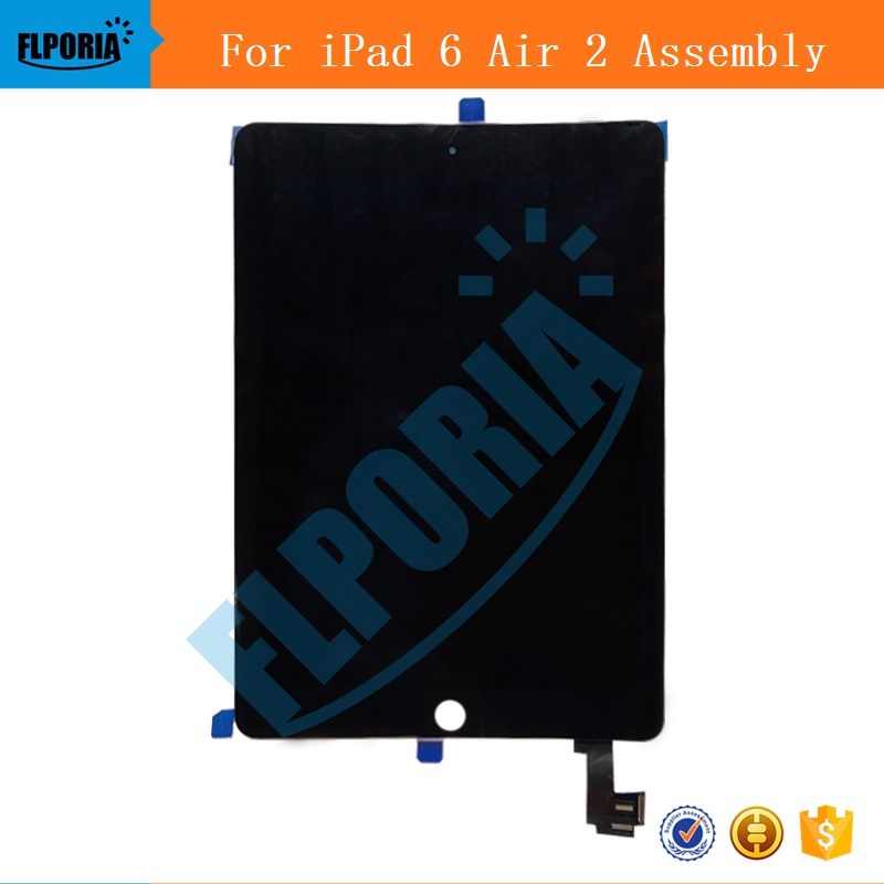 IPHT0222 A1567 A1566 LCD Digitizer Assembly For iPad Air 2 LCD Screen Assembly Display Digitizer Assembly Black White (5)