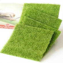 Fake Moss Miniature Garden Ornament DIY Mushroom Craft Pot Fairy Artificial Lawn Grass for Wedding Xmas Party Decoration 15x15cm