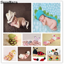 Newborn Baby Photography Props Handmade Knitting Soft Hat Pants Set Baby Girls Boys Clothing Photo Shoot Accessories 0-6 Months