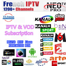 NEOPLUS Pro French Arabic Belgium IPTV Subscription for Android Smart TV Box as XIAOMI H96 X96 X92 MAG254 MAG250 Samsung SmartTV