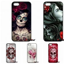 Flower Floral Sugar Skull Tattooed Cell Phone Case For HTC One M7 M8 M9 A9 Desire 626 816 820 830 Google Pixel XL One plus X 2 3(China)