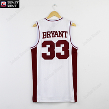Beast Beat KB Lower Merion High School Bryant Jerseys Throwback Red Black White Edition Team Retro Basketball Jerseys(China)