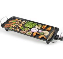 Free shipping 220v Good Quality 1800W Electric BBQ Grill with non stick coated for Spain