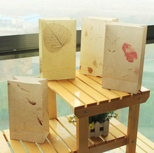 8 sets paper bag natural leave brown design gift packaging birthday party candy holding