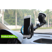 Car Phone Holder Gps Accessories Suction Cup  Auto Dashboard Windshield Mobile Cell Retractable Mount Stand for iphone huawei