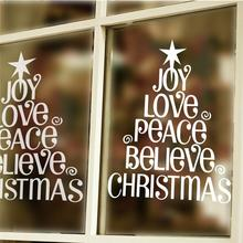 3d Merry Christmas Tree Wall Stickers Room Covers Decor Diy Vinyl Gift Home Decals Festival Mual Art Poster