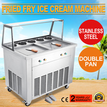 Brand Vevor For Yogurt 2-Pan 5 Buckets Ice Cream Roll Maker Brand for Fried Ice Cream Machine(China)