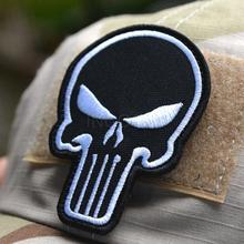 1 pc Badge Embroidered 3D Punisher Patch Tactical Patches Skull Patches Military Armband Cloth Fashion Badges