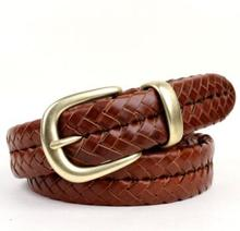 Buy Genuine leather handmade knitted strap male women's genuine leather first layer cowhide belt casual buckle waist trousers for $32.71 in AliExpress store