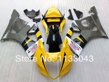 Injection For SUZUKI GSX-R1000 Yellow Grey K3 03 04 GSX R1000 K3 GSXR 1000 2003 2004 GSXR1000 Fairing Kit+7gifts