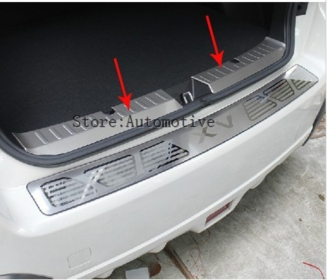 2012-2013 XV stainless steel internal Rear bumper Protector Sill  -  Shop3051060 Store store